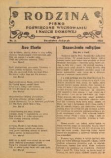 Rodzina, 1933, nr 3