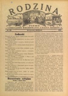 Rodzina, 1933, nr 20 [właśc. 21]