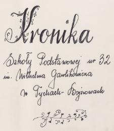Kronika Szkoły Podstawowej w Bojszowach za okres 1986-1990