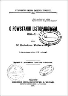 O powstaniu listopadowem 1830-31 r.