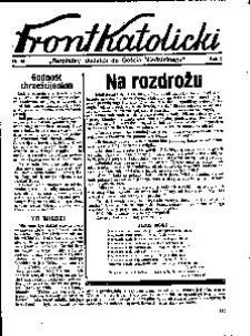 Front Katolicki, [1938], R. 2, nr 45