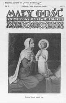 Mały Gość, 1938, R. 13, nr 1