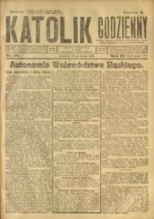 Katolik Codzienny, 1924, R. 27, Nr. 49