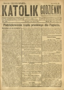 Katolik Codzienny, 1924, R. 27, Nr. 58
