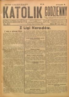 Katolik Codzienny, 1924, R. 27, Nr. 217