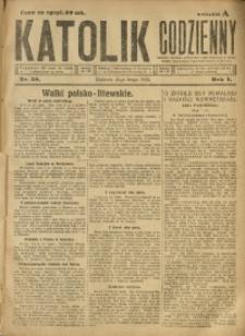 Katolik Codzienny, 1923, R. 1, Nr. 39