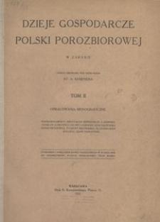 Dzieje gospodarcze Polski porozbiorowej w zarysie. T. 2, Opracowania monograficzne