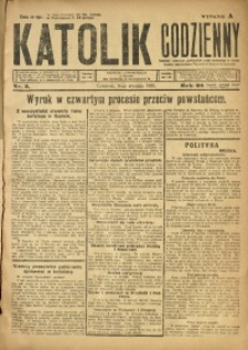 Katolik Codzienny, 1925, R. 28, Nr. 5
