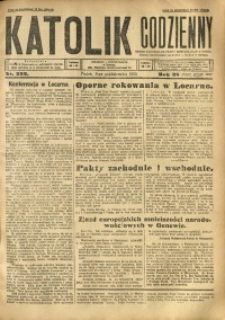 Katolik Codzienny, 1925, R. 28, Nr. 232