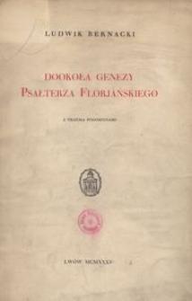 Dookoła genezy Psałterza florjańskiego