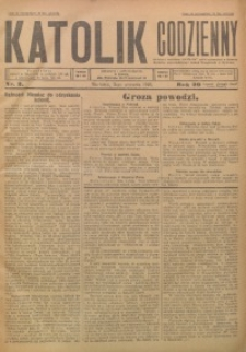 Katolik Codzienny, 1926, R. 29, Nr. 2