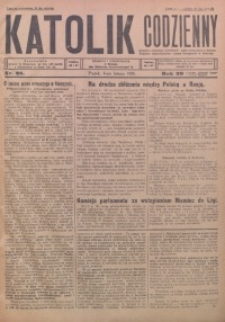 Katolik Codzienny, 1926, R. 29, Nr. 28