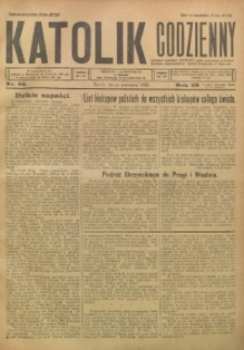 Katolik Codzienny, 1926, R. 29, Nr. 83