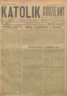 Katolik Codzienny, 1926, R. 29, Nr. 114