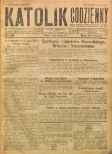 Katolik Codzienny, 1927, R. 30, Nr. 33