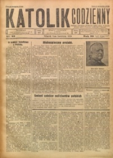 Katolik Codzienny, 1929, R. 32, Nr. 82