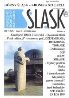 Śląsk, 2000, R. 6, nr 1