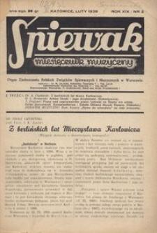 Śpiewak, 1938, R. 19, nr 2
