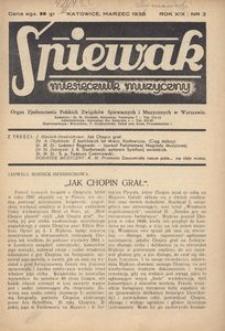 Śpiewak, 1938, R. 19, nr 3