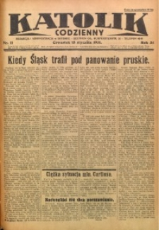 Katolik Codzienny, 1931, R. 34, Nr. 11