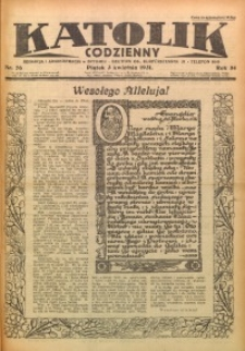 Katolik Codzienny, 1931, R. 34, Nr. 76