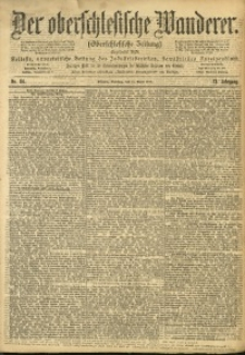 Der Oberschlesische Wanderer, 1900, Jg. 73, Nr. 84