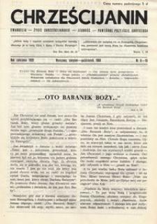 Chrześcijanin, 1958, nr 8-10