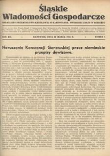 Śląskie Wiadomości Gospodarcze, 1935, R. 12, nr 5