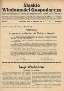 Śląskie Wiadomości Gospodarcze, 1935, R. 12, nr 16