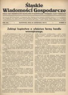 Śląskie Wiadomości Gospodarcze, 1935, R. 12, nr 22