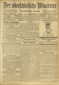 Der Oberschlesische Wanderer, 1912, Jg. 85, Nr. 84