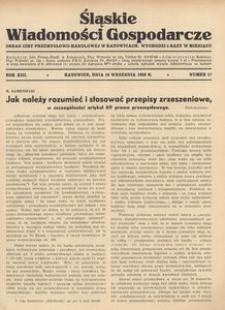 Śląskie Wiadomości Gospodarcze, 1936, R. 13, nr 17