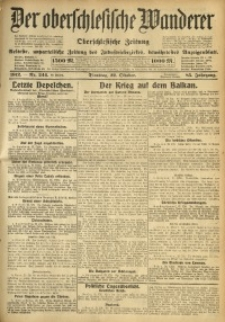 Der Oberschlesische Wanderer, 1912, Jg. 85, Nr. 244