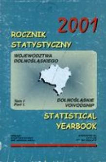 Rocznik Statystyczny Województwa Dolnośląskiego, 2001, T.1