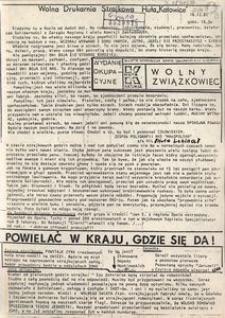 Wolny Związkowiec. Wydanie Okupacyjne, 1981, z dnia 16 grudnia [godz. 16.30]
