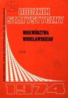 Rocznik Statystyczny Województwa Wrocławskiego, 1974, R. 13