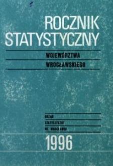 Rocznik Statystyczny Województwa Wrocławskiego, 1996, R. 21
