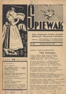 Śpiewak, 1939, R. 20, nr 1
