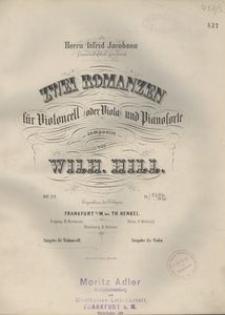 Zwei Romanzen für Violoncell (oder Viola) und Pianoforte, Op. 22
