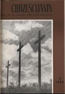 Chrześcijanin, 1965, nr 3
