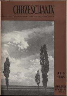 Chrześcijanin, 1965, nr 5