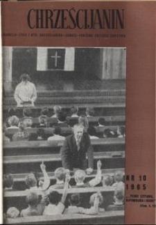 Chrześcijanin, 1965, nr 10