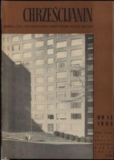 Chrześcijanin, 1965, nr 12