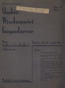 Śląskie Wiadomości Gospodarcze, 1937, R. 14, nr 18