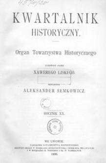 Kwartalnik Historyczny. R 20 (1906)
