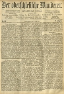 Der Oberschlesische Wanderer, 1901, Jg. 74, No. 193