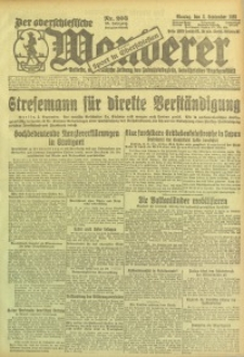Der Oberschlesische Wanderer, 1923, Jg. 95, Nr. 203