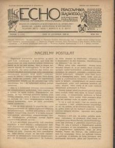 Echo Pracownika Śląskiego, 1935, R. 16, nr 11