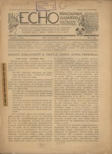 Echo Pracownika Śląskiego, 1936, R. 17, nr 1