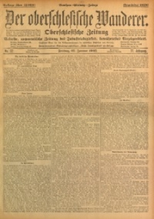 Der Oberschlesische Wanderer, 1905, Jg. 77, No. 22